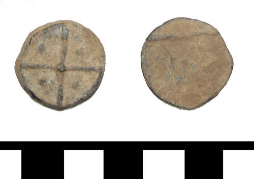 ESS-F3E135: ESS-F3E135 medieval to post medieval lead token