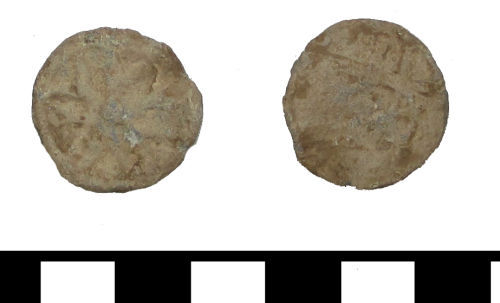 ESS-F605C7: ESS-F605C7 medieval to post medieval lead token