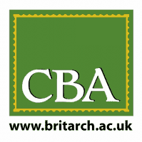 CBA logo, text in a green background
