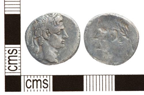 PUBLIC-60572C: PUBLIC-60572C-silver denarius of Augustus