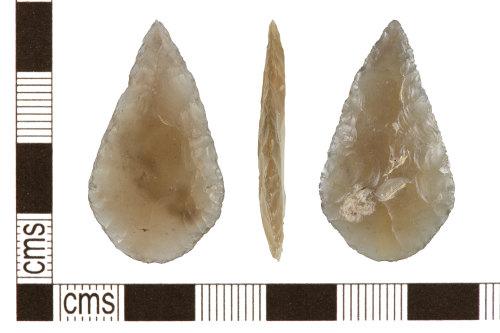 PUBLIC-901667: PUBLIC-901667-Neolithic flint leaf arrowhead
