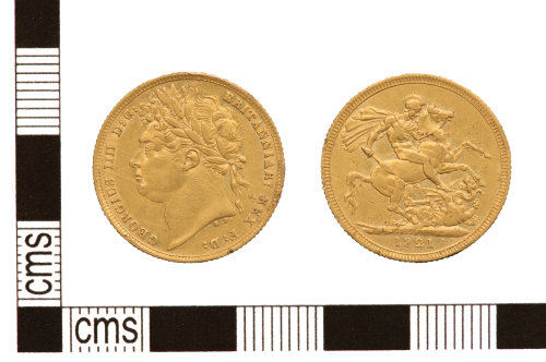 PUBLIC-BE4891: PUBLIC-BE4891-Modern gold sovereign of George IV