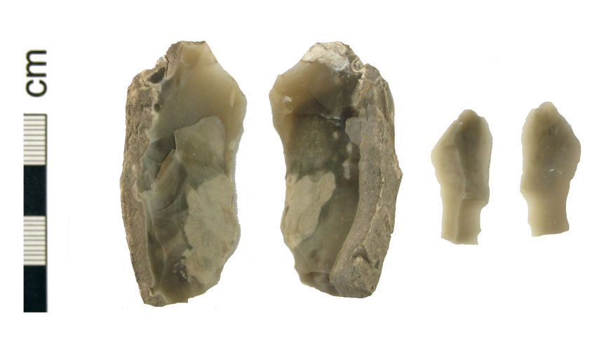 HAMP-0B27E2: Two Mesolithic flint implements