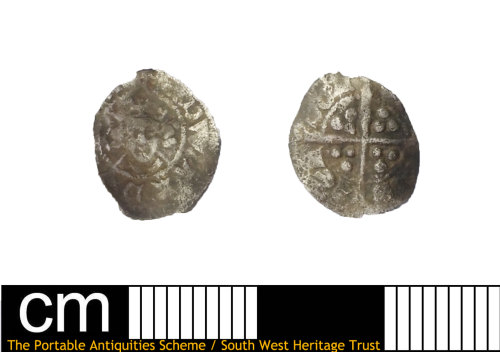 DEV-35F0CD: Medieval coin: half penny of Edward III