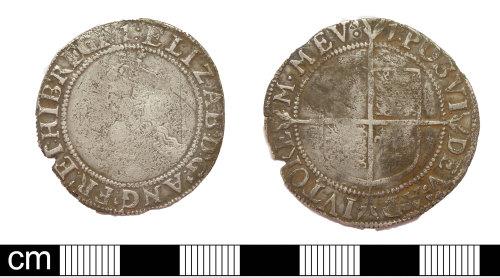 DEV-3C283C: Post medieval coin: shilling of Elizabeth I
