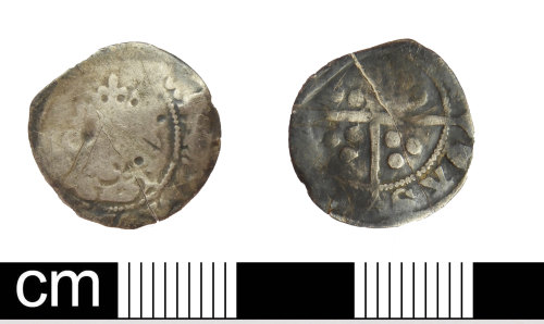 DEV-3CAD59: Medieval coin: halfpenny of Edward III