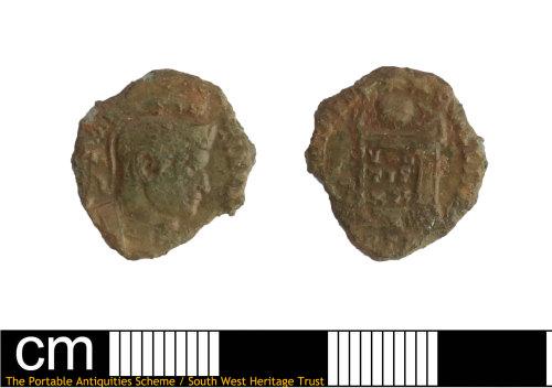 DEV-7AC271: Roman coin: nummus of House of Constantine