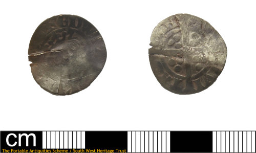 DEV-9113BE: Medieval coin: penny of Edward II