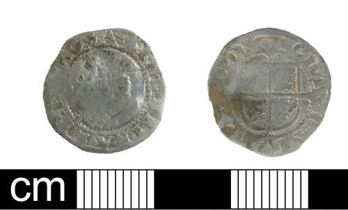 DEV-F43B44: Post medieval coin: penny of Elizabeth I
