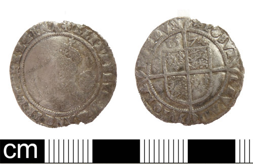 DEV-750B2E: Post medieval coin: sixpence of Elizabeth I