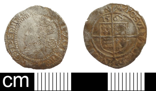 DEV-752BB5: Post medieval coin: threepence of Elizabeth I