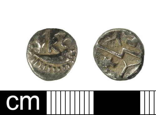 DEV-85B967: Iron Age coin: quarter stater of Durotrigian type