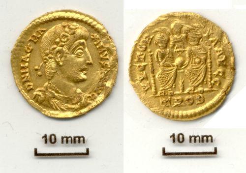 NLM-598885: Gold Solidus Magnus Maximus