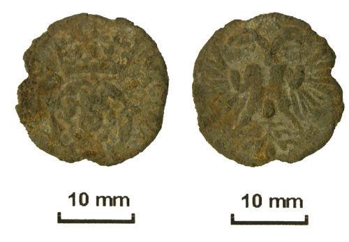 NLM-391343: Elizabeth I pewter token