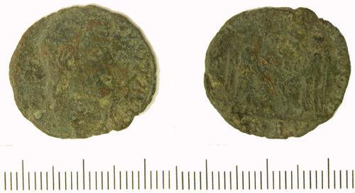 NLM-78BE95: Roman nummus of Magnentius