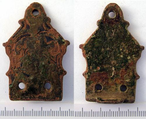 NLM-1EBE96: Early Medieval stirrup strap mount