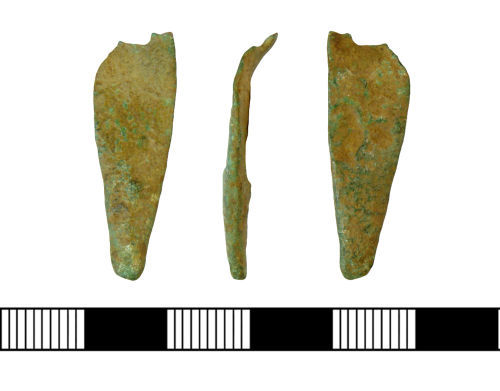 NLM-BD5082: Early Medieval Anglo Saxon Strap end