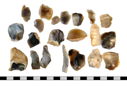 NLM-AE51B3: Dorsal Face of 22 Mesolithic to Bronze Age Lithic Implements
