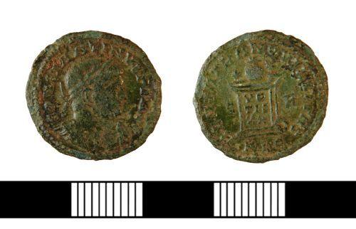 NLM-D6EB03: Roman Nummus of Constantine I