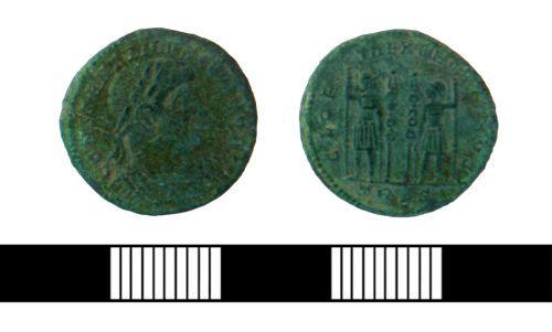 NLM-86E606: Roman nummus of Constantine II