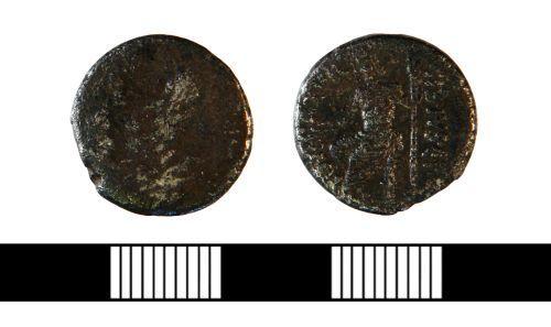 NLM-EC2352: Roman Republican denarius, struck by the moneyer C. Vibius C. F. C. N.