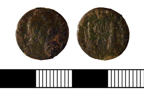 NLM-DD5F37: Roman Nummus of Magnentius