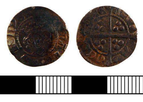 NLM-ACB6B6: Medieval Penny of Edward I