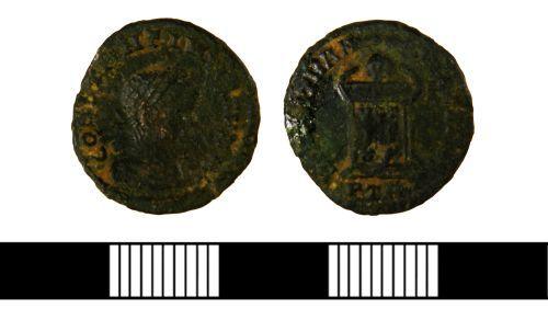 NLM-FAD197: Roman Nummus of Constantine II