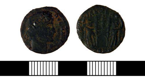 NLM-0E5128: Roman Nummus of Constantine I