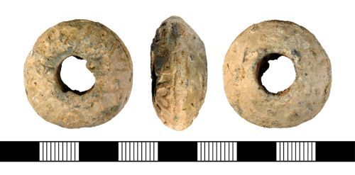 NLM-5B02D7: Medieval Spindle Whorl