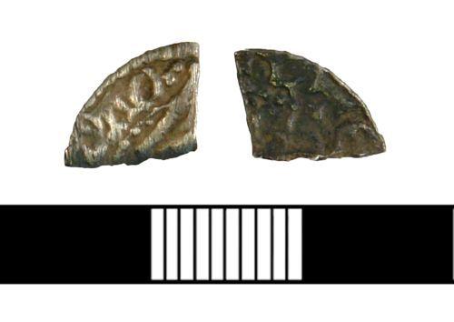 NLM-DB3BA8: Medieval Cut Quarter penny