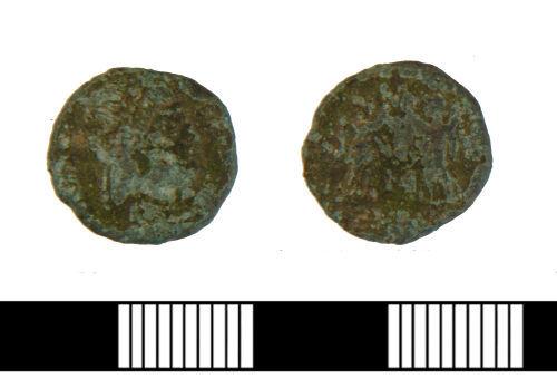 NLM-7ABA71: Roman Nummus of Constans