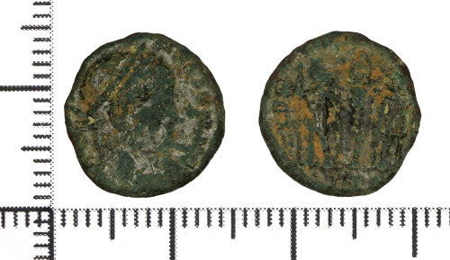DOR-2D9E76: Copper alloy nummus of the House of Constantine