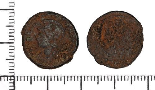 DOR-2DFDA3: Copper alloy nummus of the House of Constantine