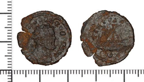 DOR-2E31C8: Copper alloy quinarius of Allectus