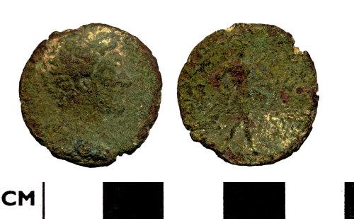 DOR-6B8F85: Roman coin: Dupondius or As of Marcus Aurelius as Caesar