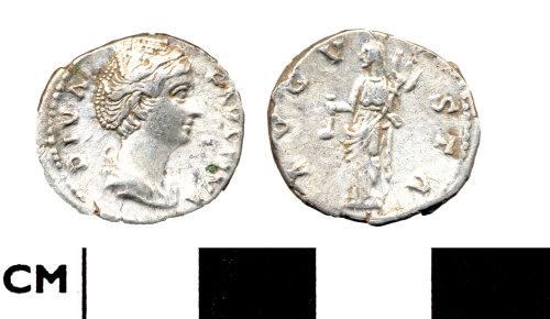 DOR-800145: Roman coin: denarius of Faustina I issued under Antoninus Pius