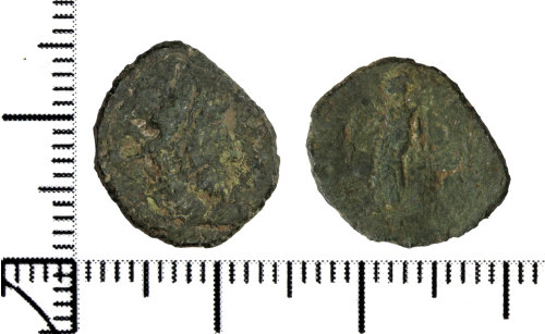 DOR-108257: Roman coin: contemporary copy of a radiate of Gallic Empire (possibly)