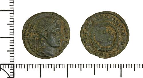 DOR-8FF7FB: Roman coin:  nummus of Constantine I.