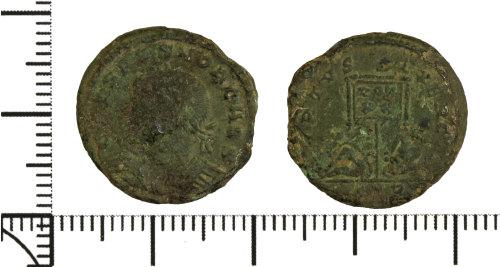 DOR-903801: Roman coin: nummus of Crispus.