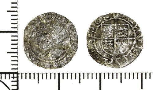 DOR-926B18: Post Medieval coin: penny of Elizabeth I