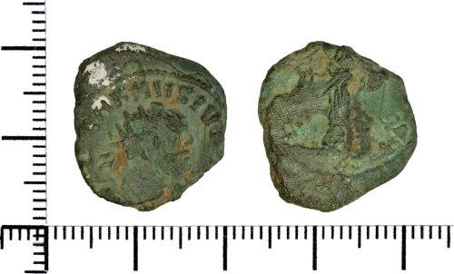DOR-96B120: Roman coin: radiate of Carausius