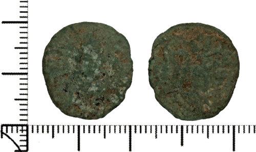 DOR-C92DE8: Roman coin: barbarous radiate copying coin of Gallic Empire.