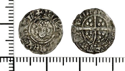 DOR-E6EF10: Silver halfpenny of Richard II