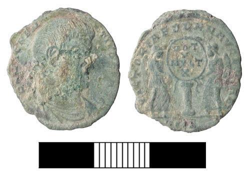 SUR-BC25F2: Roman coin: nummus of Magnentius