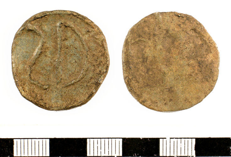 SUSS-09DDF0: Medieval to Post-medieval : Lead token