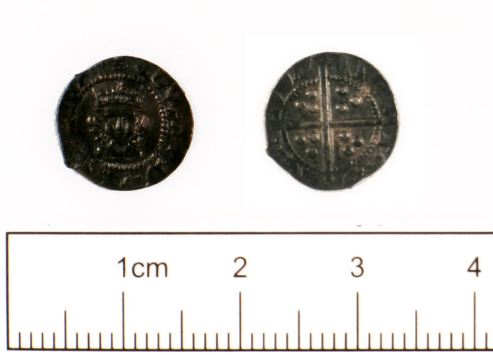 SUSS-276514: Medieval Coin : Halfpenny of Edward