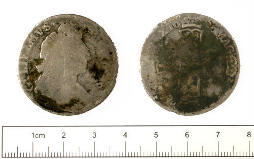 SUSS-EDA142: Post-medieval Coin : Sixpence of William III