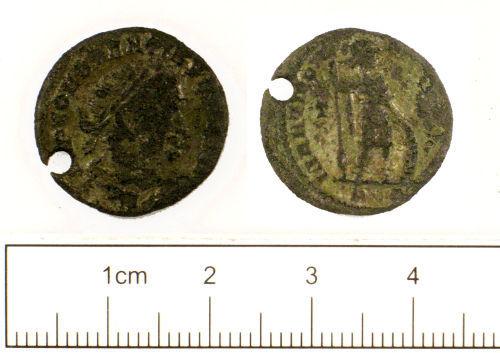 SUSS-FB5AD2: Roman coin : Pierced nummus of House of Constantine
