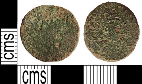 LANCUM-048704: Charles I rose farthing